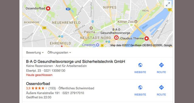 Lokaler Eintrag bei Google Handwerker