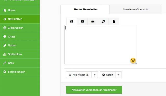 Messenger Newsletter verfassen