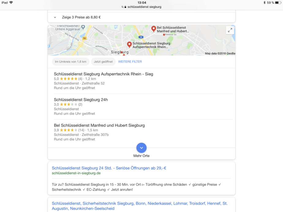 Lokale Suche Schlüsseldienst