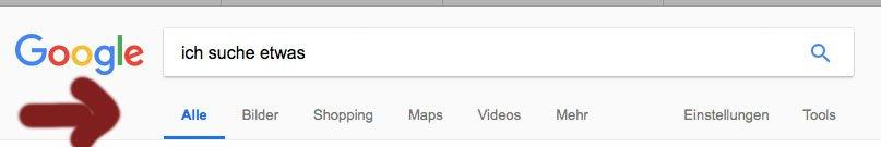 SuchOptionen Google