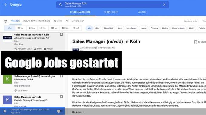 Google Jobs in Deutschland gestartet – was bedeutet das für den Job-Markt? #213