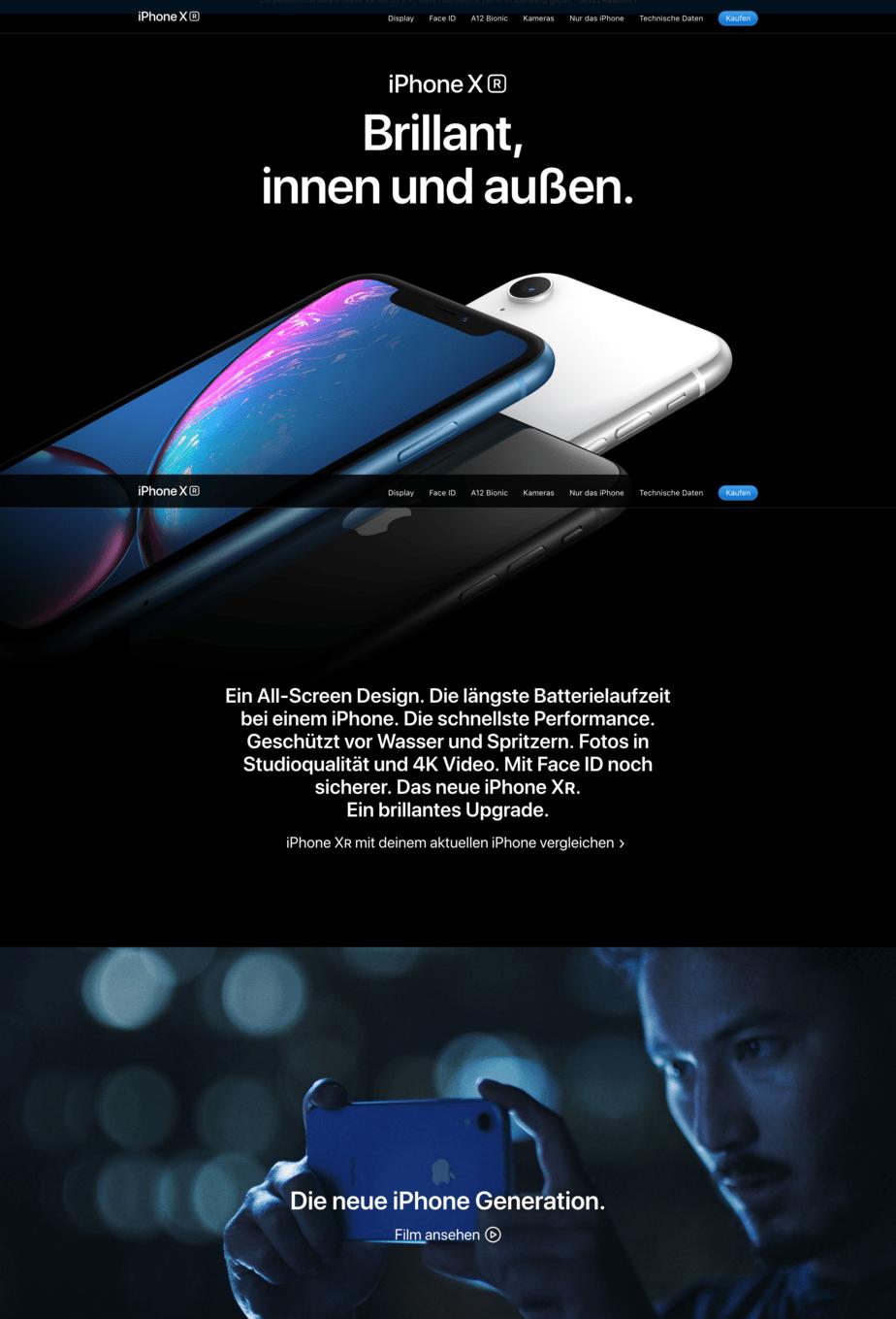 Digitale Inszenierung Apple