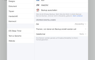 Notability - Automatisches Backup
