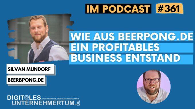 Wie aus beerpong.de ein profitables Business entstand #361
